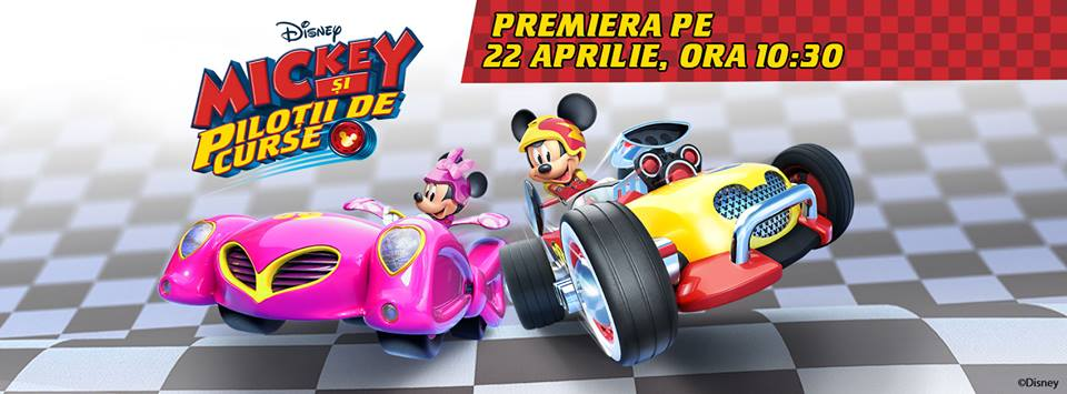 Mickey si pilotii de curse vin din weekend la Disney Junior