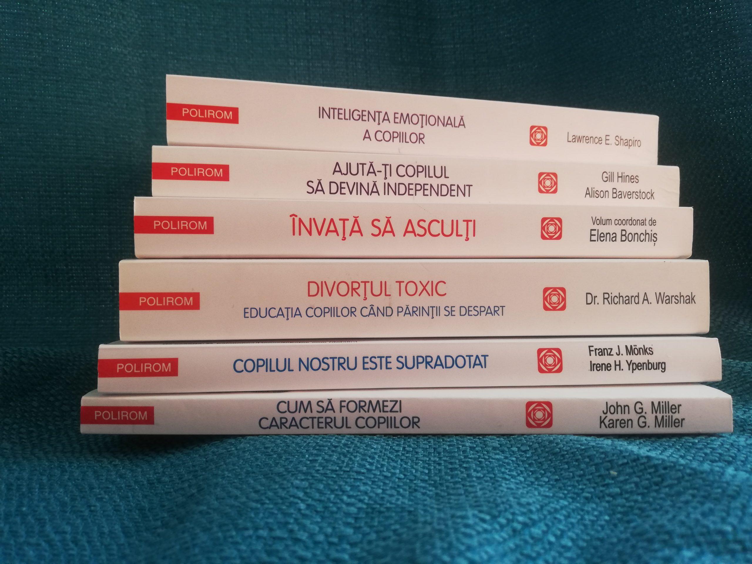 6 cărți de parenting de la Editura Polirom așteaptă să ajungă la voi. Cine vrea să le câștige?