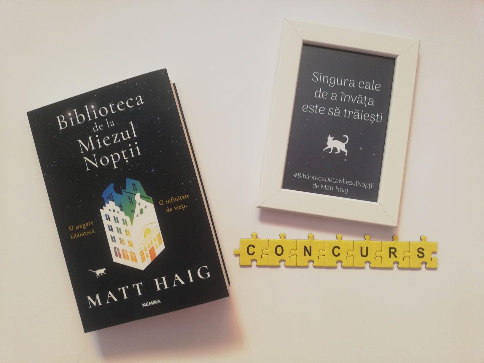 """Am pentru voi 10 cărți """"Biblioteca de la miezul nopții"""" de Matt Haig"""